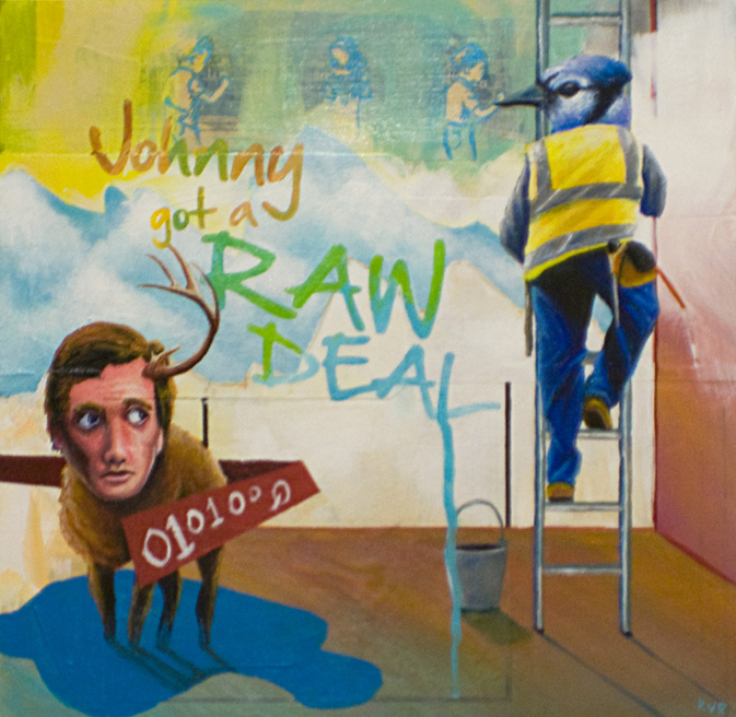 JOHNNY GOT A RAW DEAL (SOLD - COMMISSION)