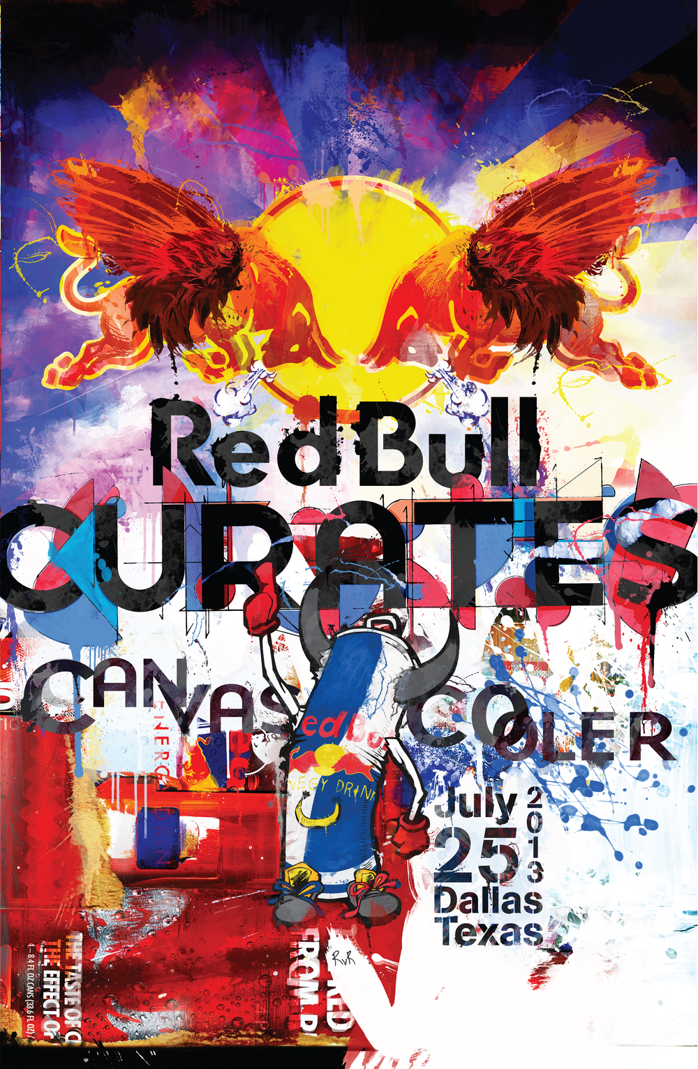 RED BULL CURATES THE CANVAS COOLER 2013 EVENT POSTERS (ILLUSTRATION AND DESIGN}