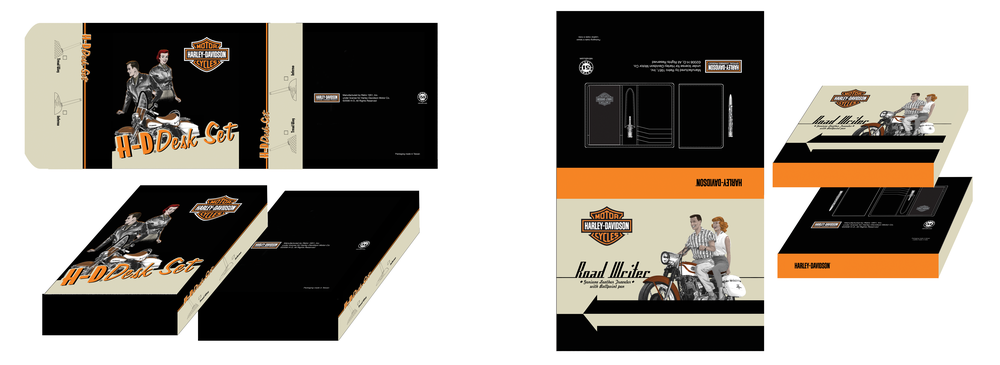 DESK SET AND WALLET AND PEN SET PACKAGING DESIGNS
