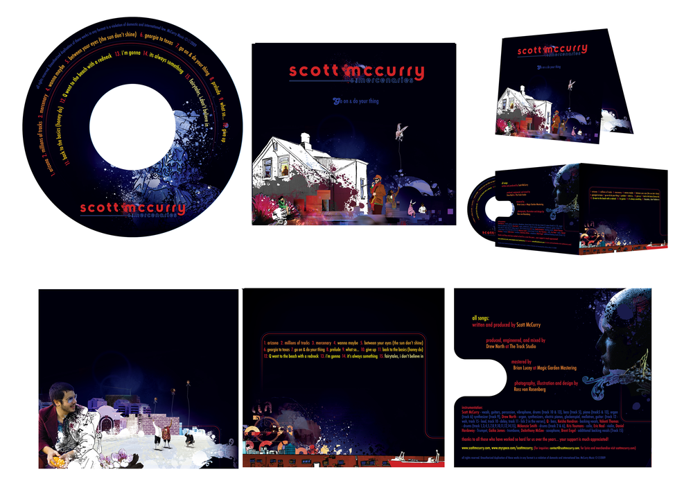 SCOTT MCCURRY AND THE MERCENARIES GO ON AND DO YOUR THING ALBUM PACKAGING   {DESIGN, PHOTOGRAPHY, AND ILLUSTRATION}