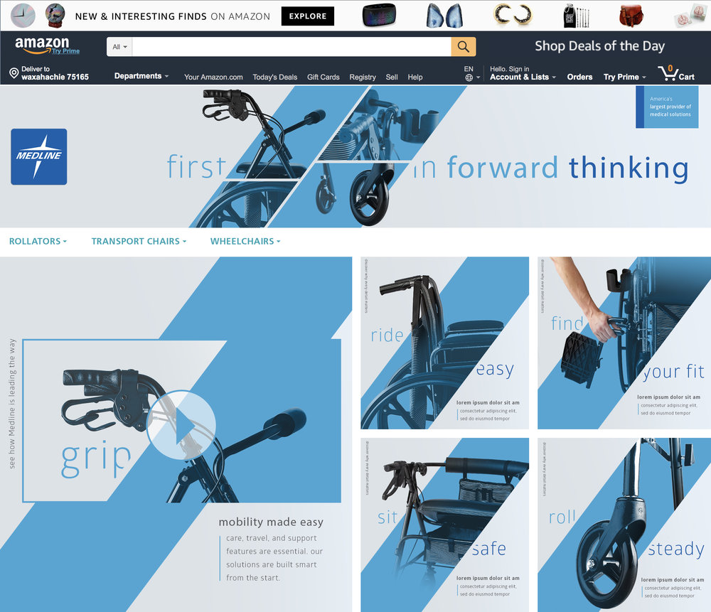 MEDLINE MOBILTY DEVICES AMAZON BRAND PAGE (CONCEPT ONLY)