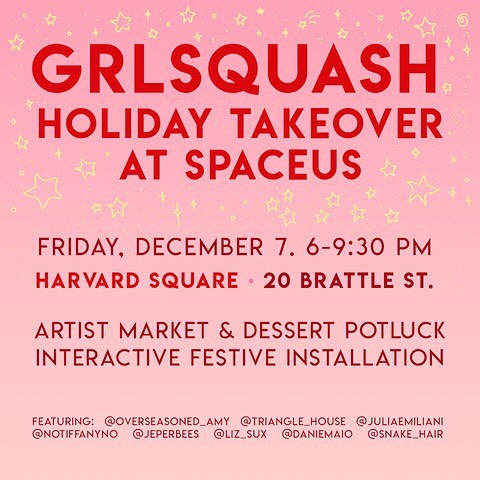 ! DUMP HIM ! and come hang out @spaceus.co with @grlsquash and these rad local artists! I'll be tabling and selling prints with resident deviled egg @notiffanyno and we'll probably talk about haunted antiques or Krampus the whole time !! 🖤👹