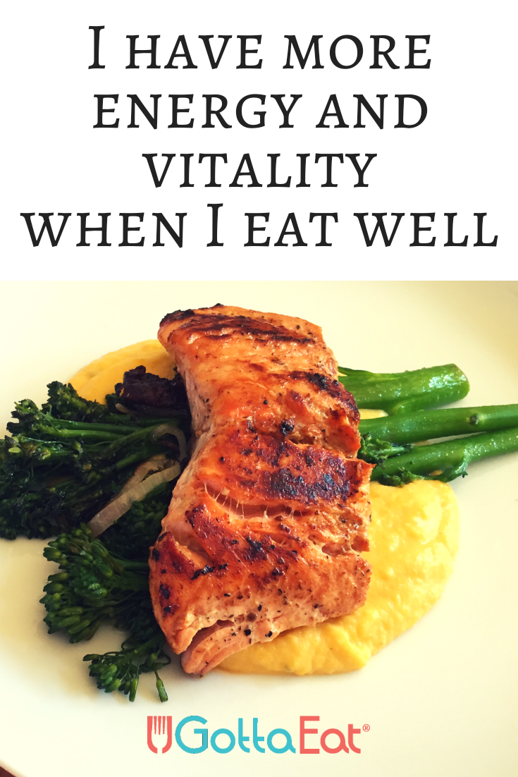 I Have More Energy and Vitality When I Eat Well