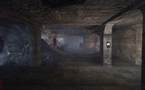 """One of three rooms of the map """"Nacht Der Untoten."""""""