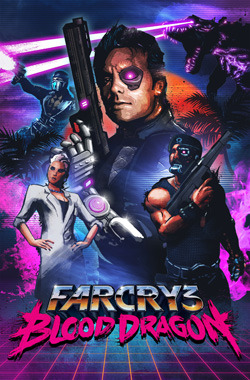 Power Colt, Spider, Dr.Darling,Sloan, and a Blood Dragon walk into a cheesy 80's movie poster...