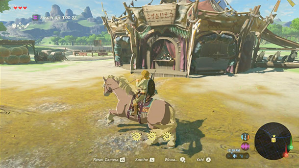 One of multiple stables you find around Hyrule. This is where horses are boarded and registered.