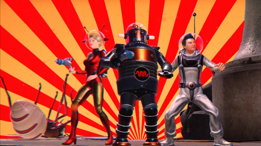 Scarlet, Robot, and Dick (from left to right.)