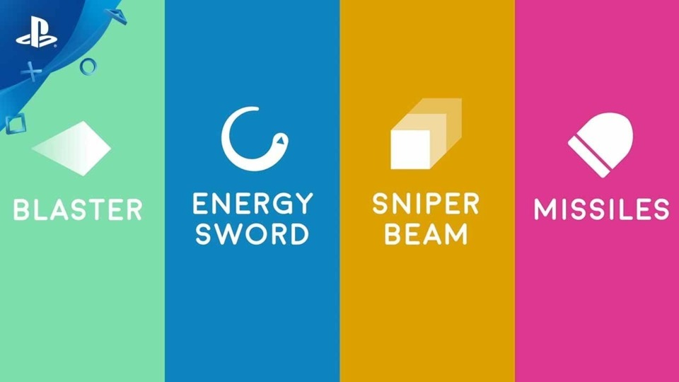 The four weapons of the game.