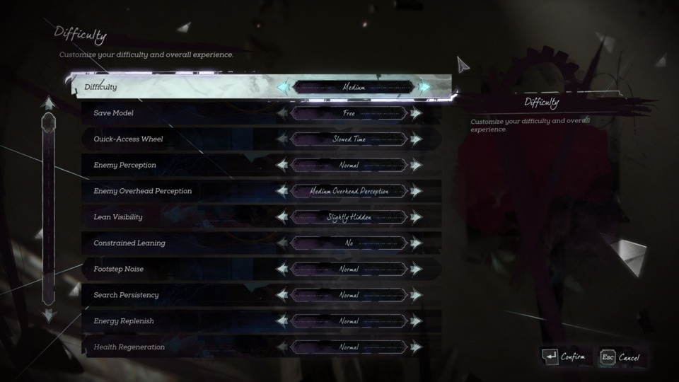 Some of the modifiers in the custom difficulty section.