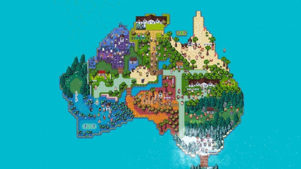 The main map of the game, which is fitting for an Australian-based company.