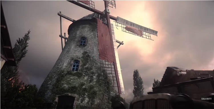 The three maps are pretty basic and small. This first one is a small village with a windmill.