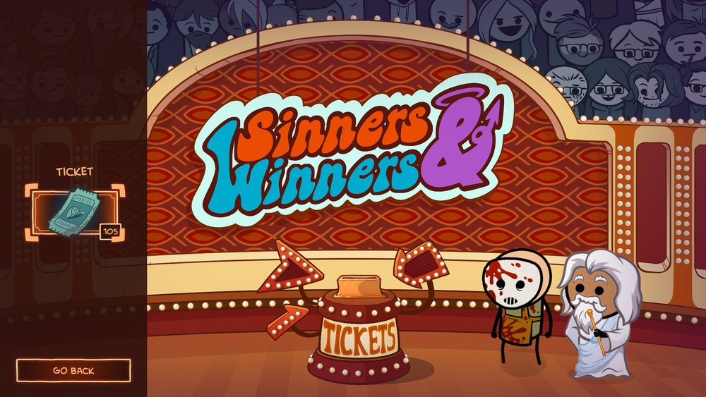 Sinners and Winners, God's gift giving game show, asks for a bit too much.