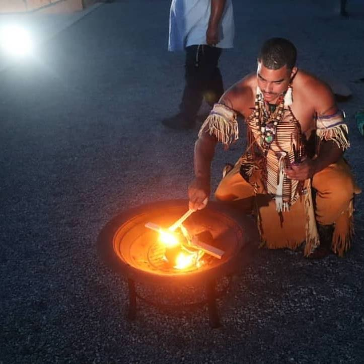 Photo credit: Jeremy Dennis   Shane Weeks  is a member of the Shinnecock Nation and a current member of the Southampton Town Arts and Culture Committee, Watermill Center Fellowship Committee, Shinnecock Nation Natural Resource Committee and the Shinnecock Nation Cultural Committee.  Shane is an artist, traditional dancer, traditional drummer and currently works at Wampum Magic on the Poospatuck reservation in Mastic year-round making wampum beads out of quahog clam shells.