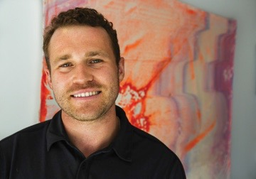 "Brett Loving , renegade artist, innovative designer and owner founder of Hamptons based company ""EarthWorks"" is known for his large scale abstract works he creates on canvas all while using a 44,000 lb excavator to achieve his Aesthetic! Bridging the gap between man and machine, Brett takes his concepts further to explore steel sculpture followed by taking to land. Creating large scale EarthWorks installations, undulating the earth into 20' tall berms, creating bio swells to lend itself to treating elements such as water as a valuable resource. Creating communal space for agricultural, design, education, and experience."