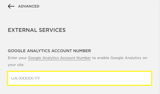Google Analytics example for Squarespace SEO Tips by Hello Brand Collective