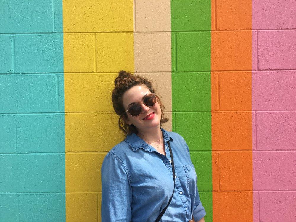 I love a rainbow wall!