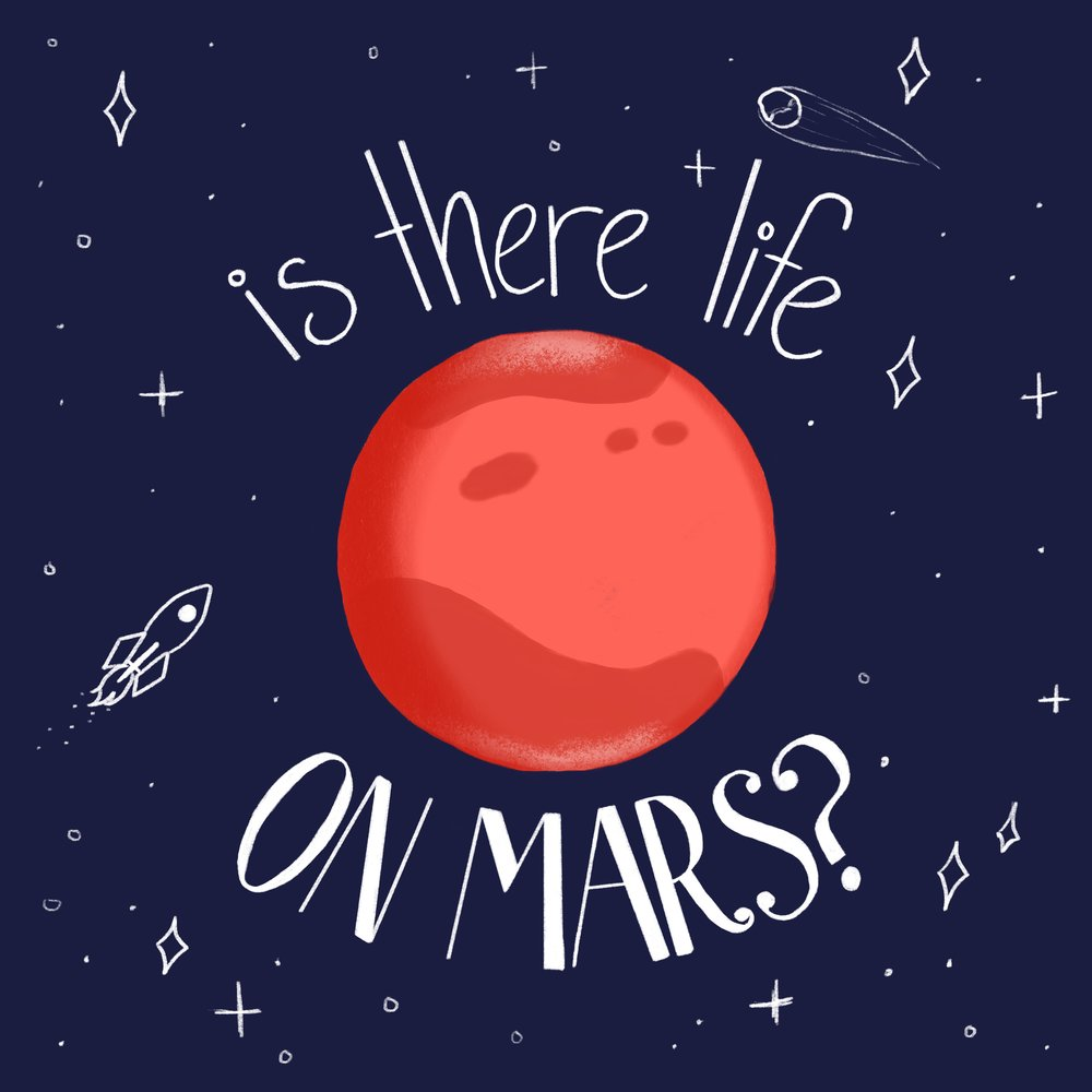 I made this during a time when Mars was super close to Earth. Each night I would watch for Mars to rise from my living room window as I drew this piece.