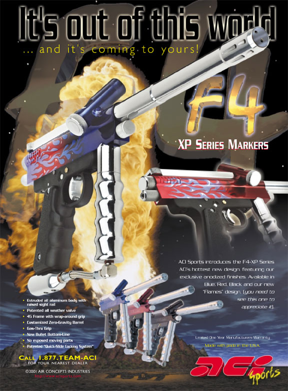F4 paintball marker