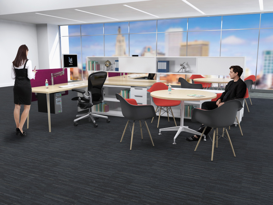 Workstation 2 Pack with conference area