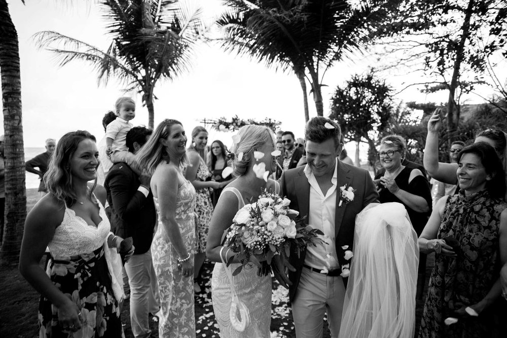 MADDISON & SAM - Maddison and Sam's dreamy wedding in tropical Bali was all relaxed vibes and fun. A place where guests could spend the day bathing in the sun, surfing or sipping cocktails by the pool.