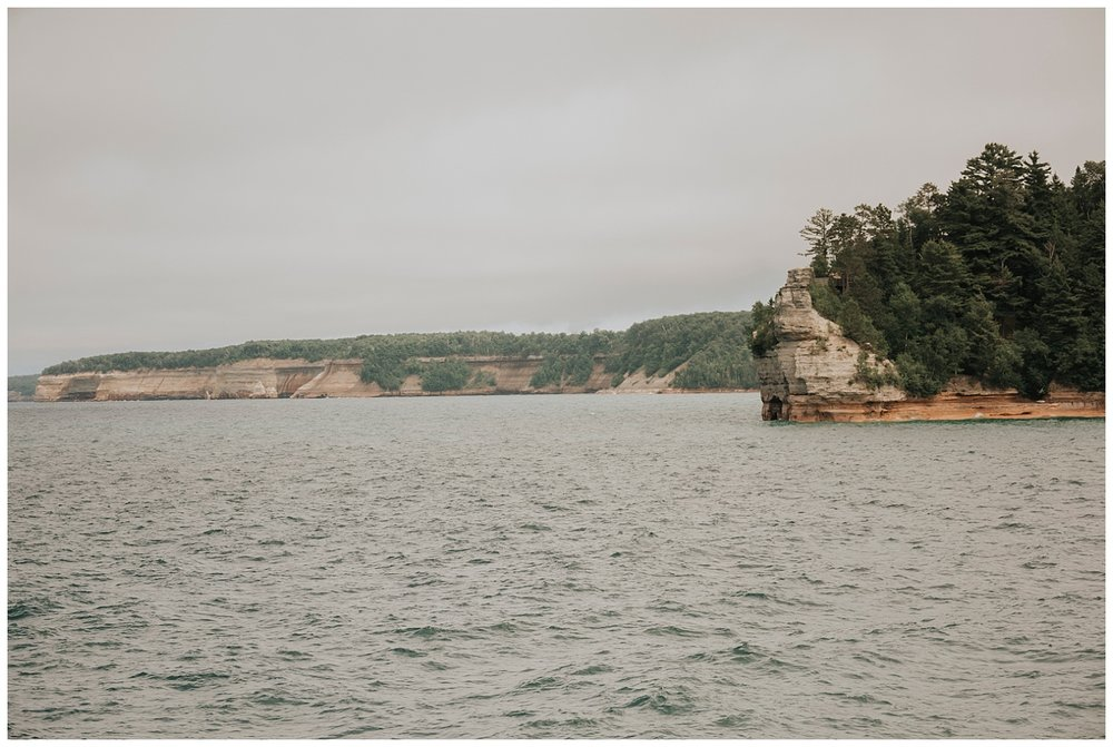 Boating near Munising, Michigan| Pictured Rocks National Lakeshore| Elopement Inspiration| Wild Onyx Photography