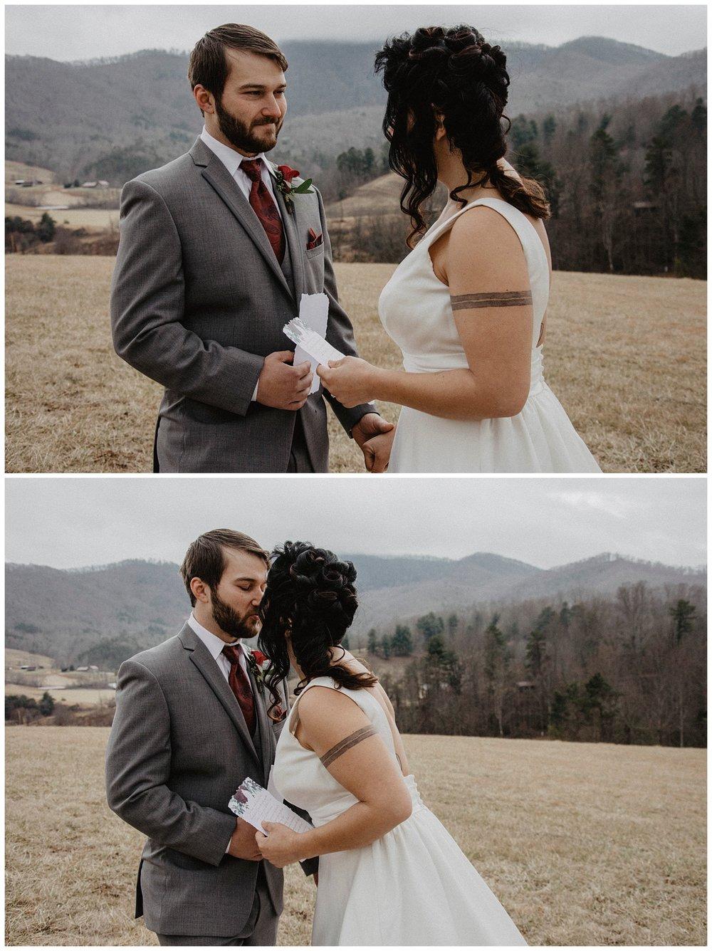 North Carolina mountains wedding