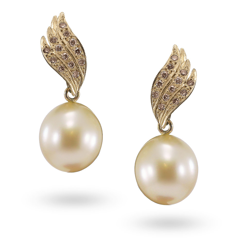 Broome Pearl & Champagne Diamond Earrings.jpg