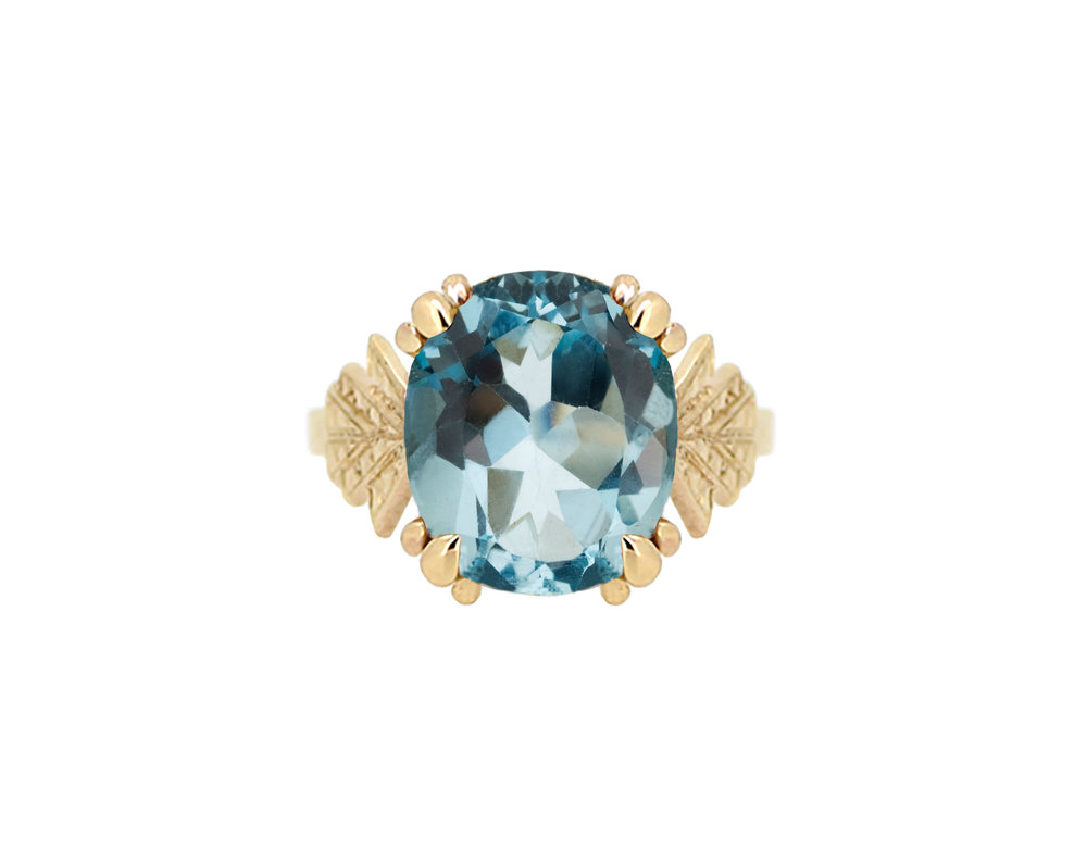 Art Deco Yellow Gold Blue Topaz Ring.jpg