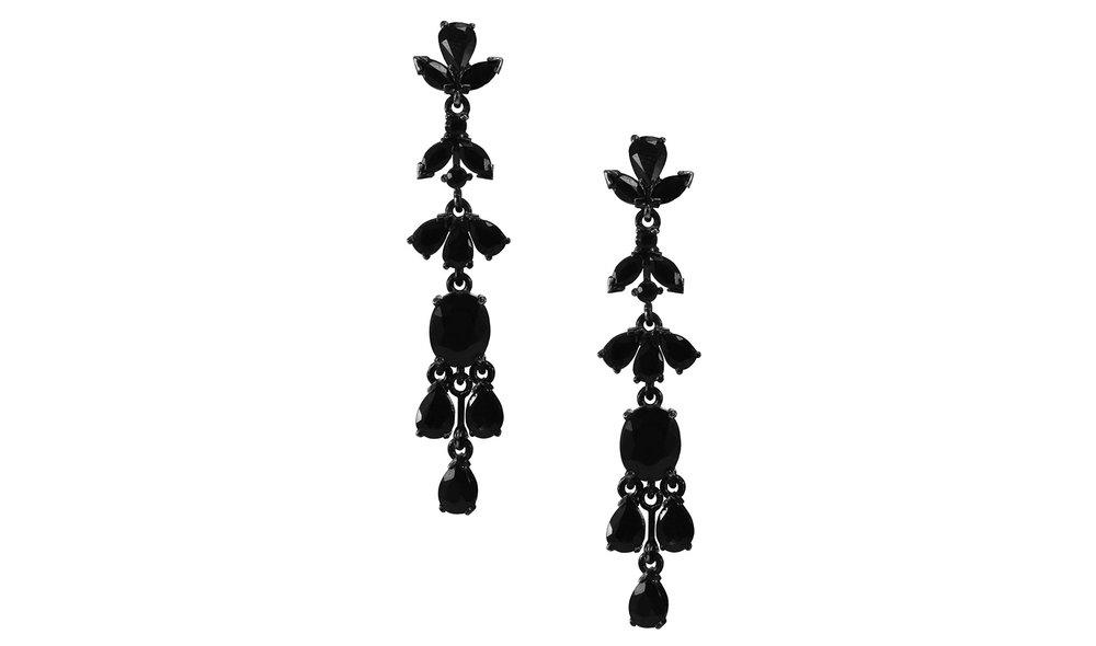 Black Sapphire Earrings