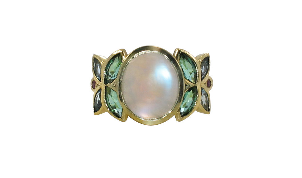 Moonstone Ring with Blue and Green Aquamarine.jpg