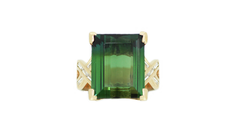 Tourmaline and Diamond Chanel set Ring.jpg