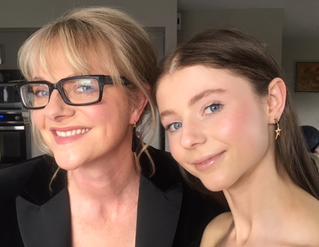 Miranda Harcourt & Thomasin McKenzie - Miranda Harcourt and Thomasin McKenzie Harcourt wearing Stella by TORY & KO. Earrings for the Premiere of the film The Changeover.
