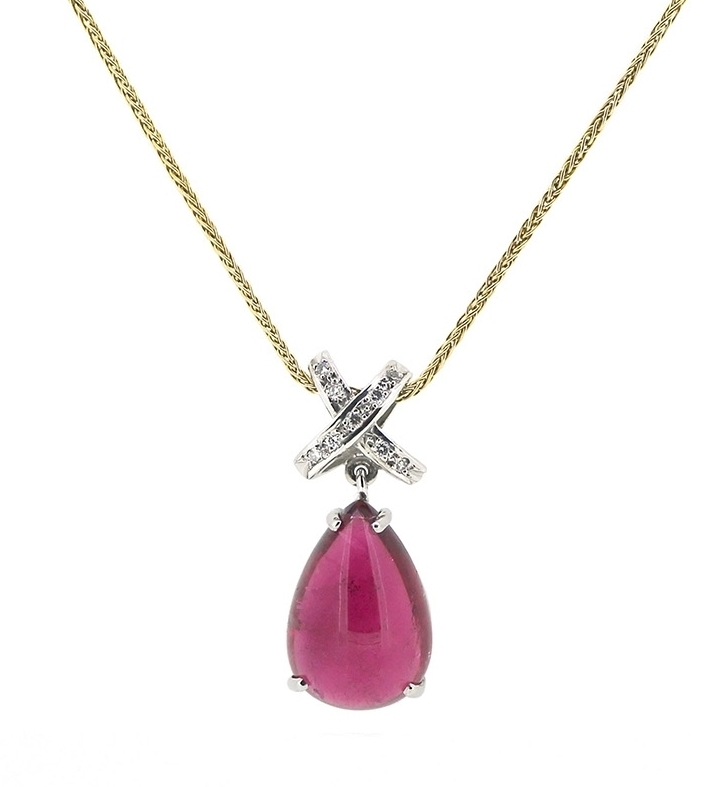 Pink Tourmaline Kiss Necklace
