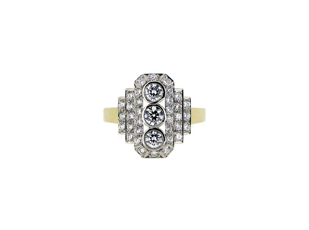 Bespoke Art Deco Diamond Ring