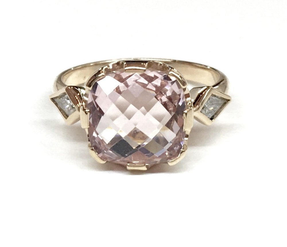 Bespoke Morganite & Diamond Ring