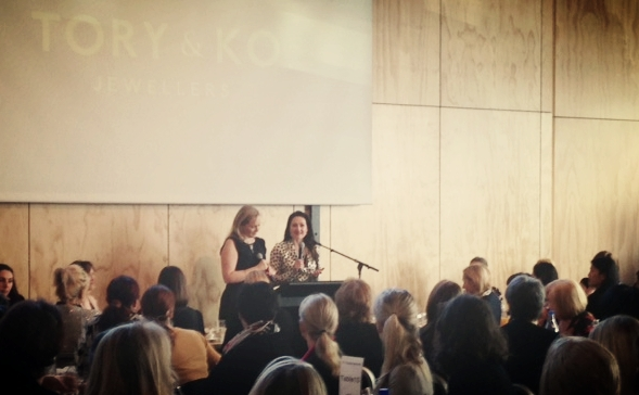 Victoria & Kirstin speaking at the Annual Crowe Horwath Women in Business Breakfast  .jpg