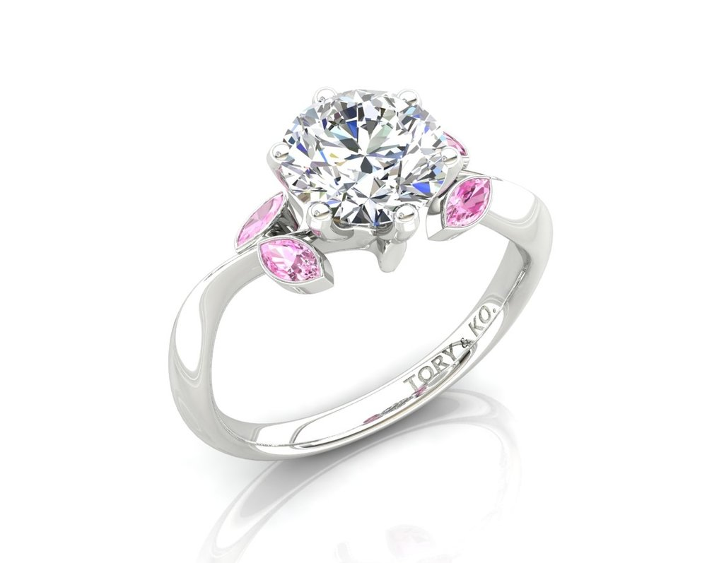 Pink Sapphire & Diamond Ring 18ct White Gold.jpg