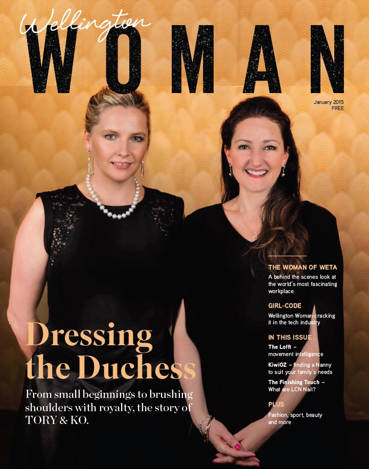 Wellington Woman Cover Feature - TORY & KO. featured in Wellington Woman Magazine.