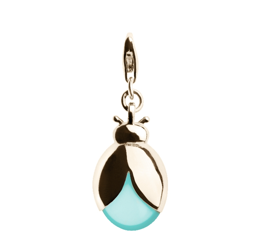 1b2aa0ba4 9ct Gold Ladybug (Turquoise) Charm — TORY & KO. Jewellers