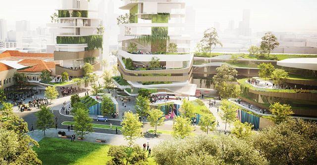 Conceptual Render for Australian Development Capital for the Perth Girls school site in East Perth. #adc #perthcity #perth #development #urbanvillage #masterplan #3d #rendering #3dsmax #archviz #architecture