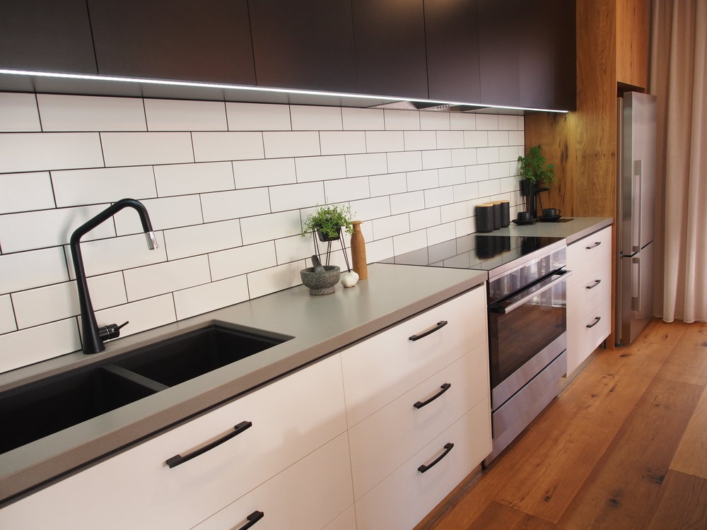 Caesarstone Sleek Concrete installed at Douglas Street, Launceston Tasmania
