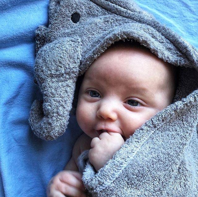 Hey cutie 🥰 Photo via @abbyvonduve . . . #baby #bamboo #bambootowel #babyaustralia #hoodedtowel