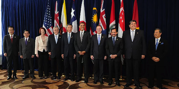 Leaders meet at Trans-Pacific Leaders Strategic Economic Partnership Agreement Summit in November, 2011 Credit:Gobierno de Chile (Flickr,CC-BY-2.0)