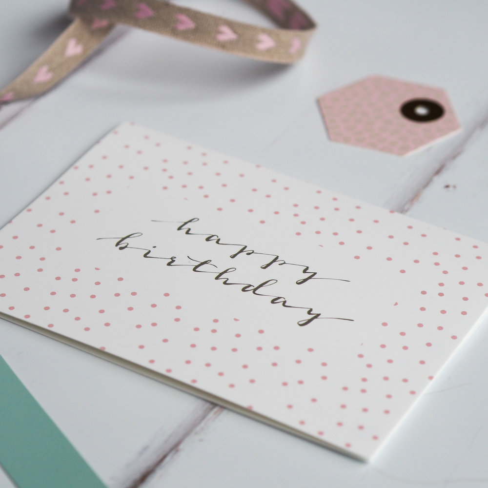 dotty happy birthday card