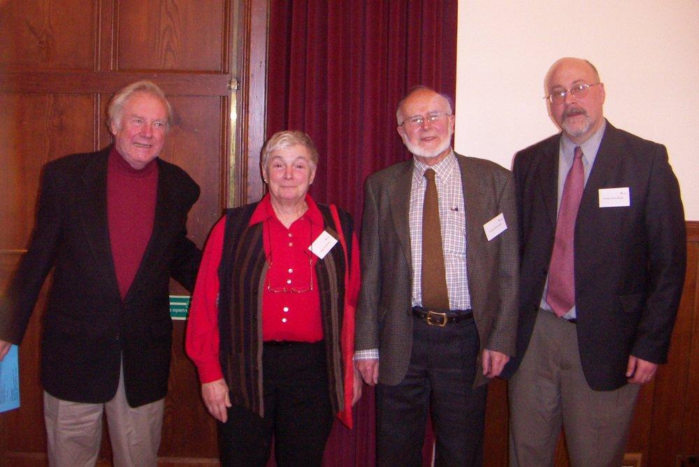 Holders of the Douglas Chair (l to r): Alan Watson, Olivia Robinson, Bill Gordon, Ernest Metzger