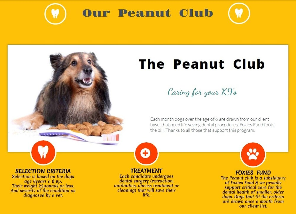 If you would like to support the Peanut Clubs work, please donate to our website. . . and thank you.