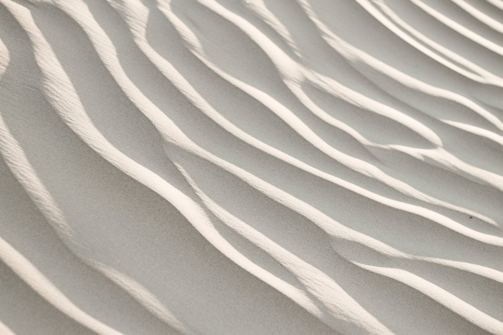 rippled white sand