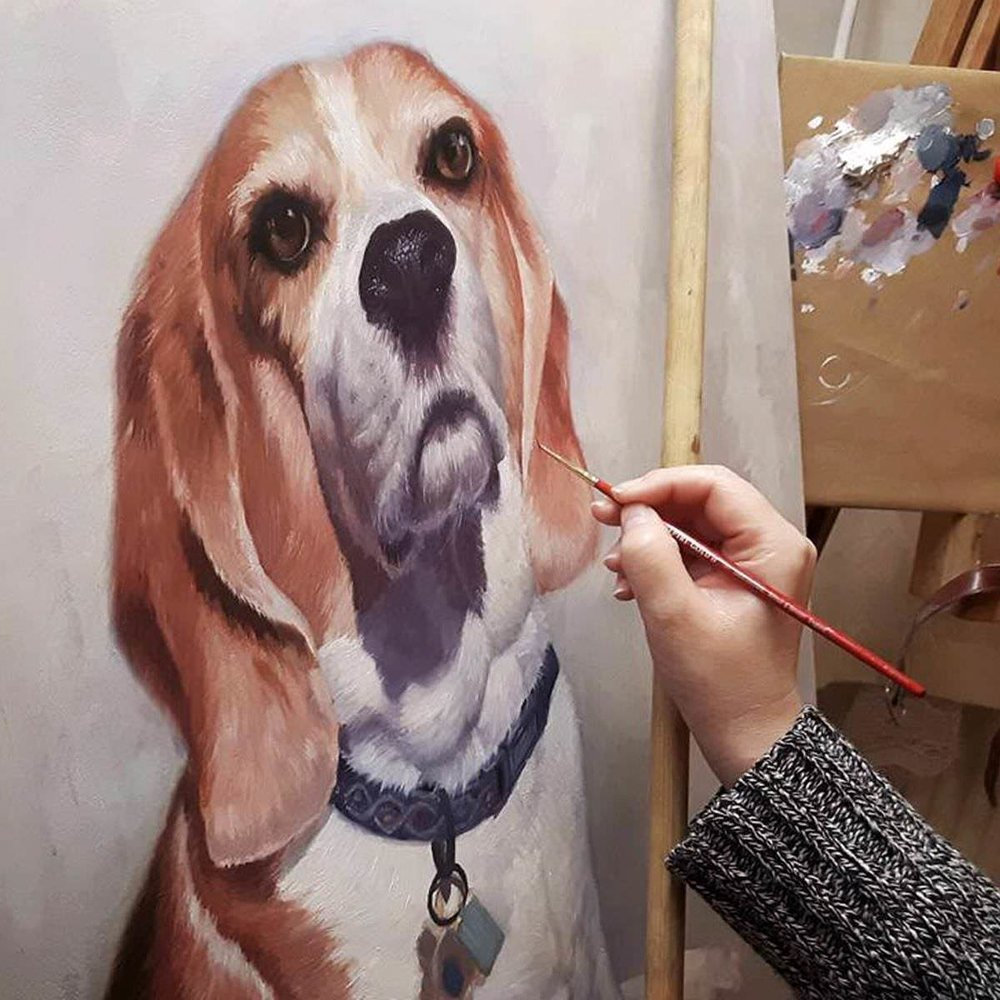 Painting a dog