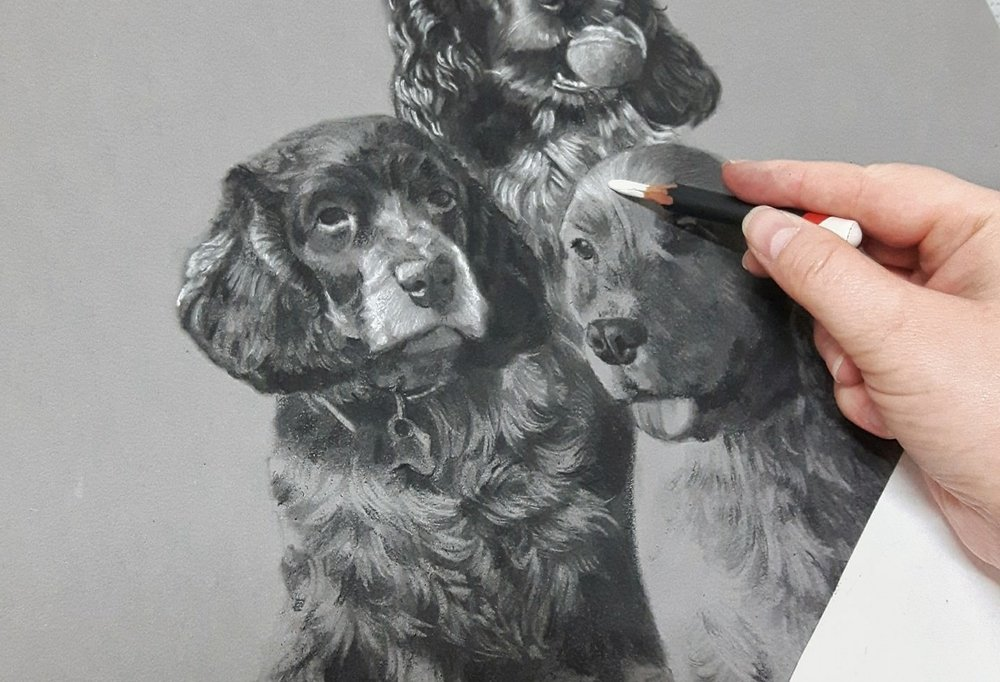 Drawing a charcoal