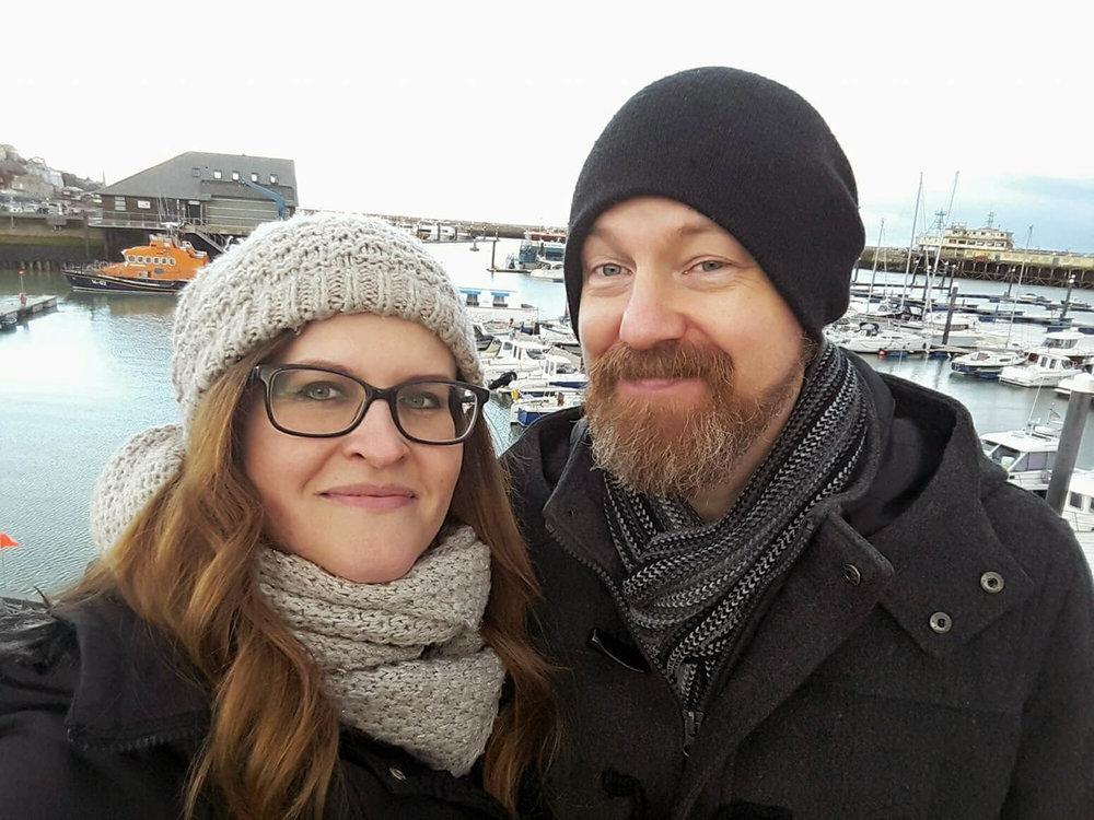 Kate and Paul at the Ramsgate Marina
